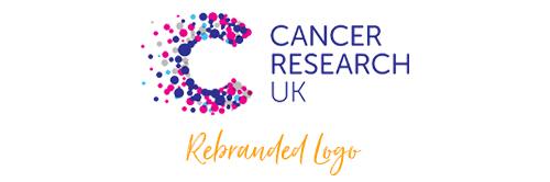 Cancer research rebranding logo