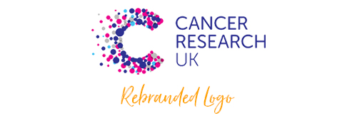 Cancer research rebranding logo