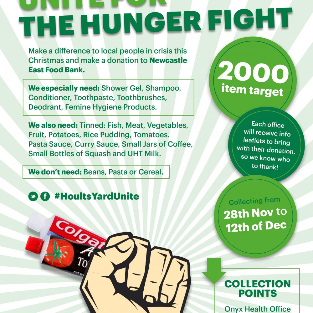 Hoults Yard Unite For The Hunger Fight With A Festive Food